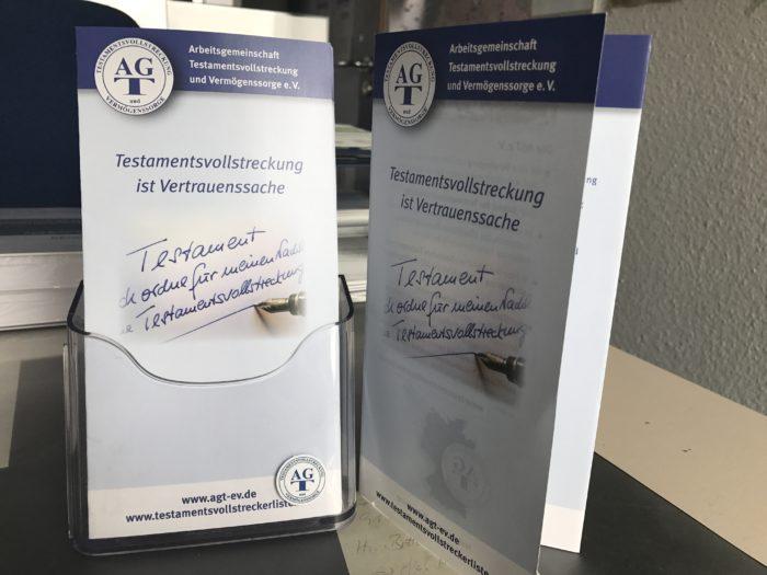 Der AGT-Flyer in personalisierter Form