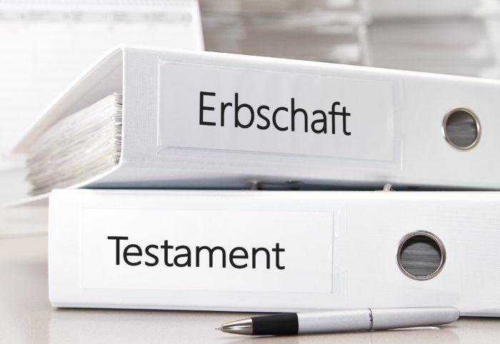 Zusammenhang Testament und Erbschaft