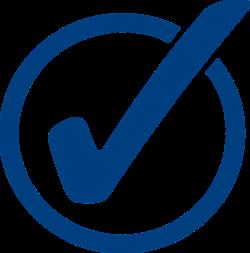 Symbol für Bestätigung, Richtigkeit